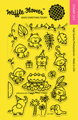 """Jungle Birthday - Waffle Flower Crafts Clear Stamps 4""""X6"""""""