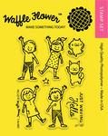 """Hello - Waffle Flower Crafts Clear Stamps 3""""X4"""""""