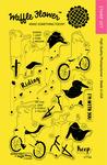 "Biking Girls - Waffle Flower Crafts Clear Stamps 4""X6"""