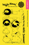 """Floatie Boys - Waffle Flower Crafts Clear Stamps 4""""X6"""""""