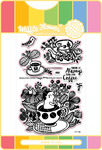 Enveloper Coffee - Waffle Flower Stamp & Die Set