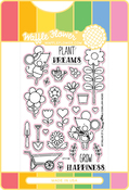 Grow Happiness - Waffle Flower Stamp & Die Set