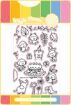 Jungle Birthday - Waffle Flower Stamp & Die Set