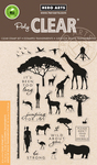 """Safari Wild About You - Hero Arts Clear Stamps 4""""X6"""""""