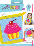 "6""X6"" Stitched In Yarn - Sew Cute! Cupcake Needlepoint Kit"