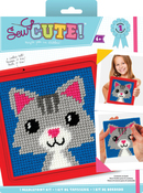"6""X6"" Stitched In Yarn - Sew Cute! Lola Cat Needlepoint Kit"