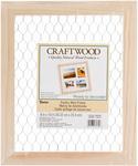 """9.5""""X11.5"""" - Wood Chicken Wire Frame"""