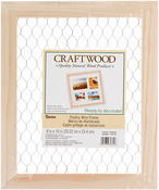 "9.5""X11.5"" - Wood Chicken Wire Frame"
