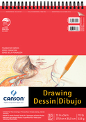 "30 Sheets - Canson Foundation Series Spiral Drawing Pad 11""X14"""
