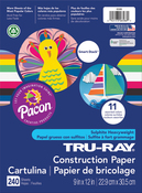 """240 Sheets/Pkg, Assorted Colors - Pacon Tru-Ray Smart Stack Construction Paper 9""""X12"""""""