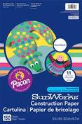 "150 Sheets/Pkg, Assorted Colors - Pacon SunWorks Smart Stack Construction Paper 12""X18"""