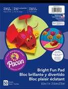 """50 Sheets, Assorted Colors - Pacon Bright Fun Paper Pad 8.5""""X11"""""""