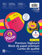 """Brights Assorted Colors - Pacon Premium Tagboard Paper 8.5""""X11"""" 50 Sheets/Pkg"""