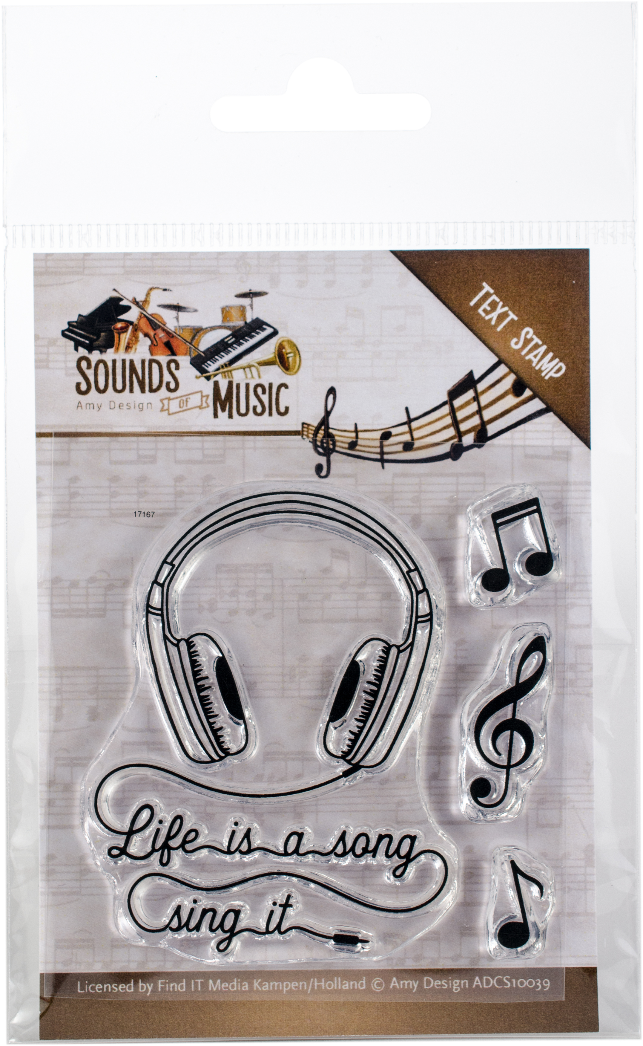 Sounds Of Music - Find It Trading Amy Design Clear Stamps
