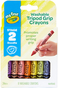 8/Pkg - Crayola My First Washable Tripod Grip Crayons
