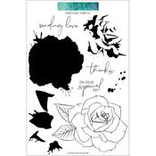 Painted Rose Concord & 9th Clear Stamp Set