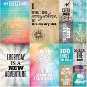 "Bucket List Poster Stickers 12""X12"""