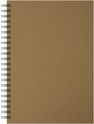 "40 Sheets, Kraft Cover - Artgecko A4 Twin Wirebound Hardback Sketchbook 8.27""X11.69"""