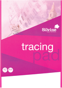 "40 Sheets - Silvine A4 Tracing Pad 8.27""X11.69"""