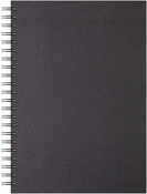 "40 Sheets, Black Cover - Artgecko A4 Twin Wirebound Hardback Sketchbook 8.27""X11.69"""