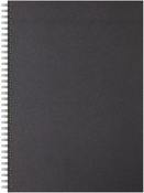 "40 Sheets, Black Cover - Artgecko A3 Twin Wirebound Hardback Sketchbook 11.69""X16.5"""