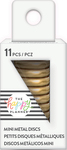 Gold - Happy Planner Mini Metal Expander Discs 11/Pkg