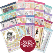 For The Ladies, 20 Designs/2 Each - Hunkydory Whopper Topper A5 Paper Pad 40/Pkg