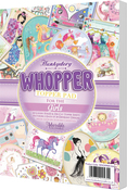 For The Girls, 20 Designs/2 Each - Hunkydory Whopper Topper A5 Paper Pad 40/Pkg