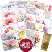 "Flowers, 25 Designs/6 Each - Hunkydory The Square Little Book Of 5""X5"" Paper Pad 150/Pkg"