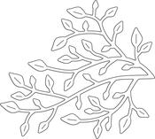 "Little Branch 3""X2.75"" - Penny Black Creative Dies"
