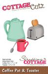 """Coffee Pot & Toaster, 1.4"""" To 1.9"""" - CottageCutz Die"""