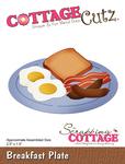 """Breakfast Plate, 2.5""""X1.5"""" - CottageCutz Die"""