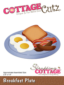 "Breakfast Plate, 2.5""X1.5"" - CottageCutz Die"