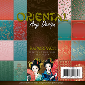 "Oriental, Double-Sided - Find It Trading Amy Design Paper Pack 6""X6"" 23/Pkg"