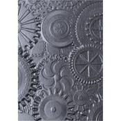 Mechanics Sizzix 3D Texture Fades Embossing Folder By Tim Holtz