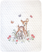 """Baby Deer-Stitched In Floss - Janlynn Stamped Quilt Cross Stitch Kit 34""""X43"""""""