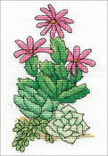 """Cactus (18 Count) - Design Works Stitch & Mat Counted Cross Stitch Kit 3""""X4.5"""""""