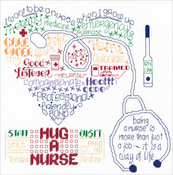 "Let's Hug A Nurse (14 Count) - Imaginating Counted Cross Stitch Kit 10""X10"""