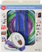 Set Of 3 With Springform Closure - Boye Plastic Embroidery Hoops & Stand