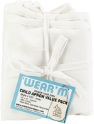 "White - Child Apron Value Pack 12""X19"" 3/Pkg"