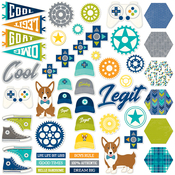 2 Cool For School Pea Pod Parts Die-Cuts 51/Pkg