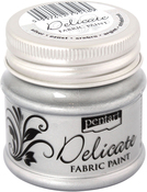 Silver - Delicate Fabric Paint 50ml
