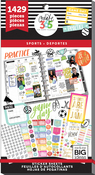 Sports, 1429/Pkg - Happy Planner Sticker Value Pack