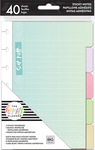 Pastel, 5 Designs/8 Each - Happy Planner Sticky Notes 40/Pkg