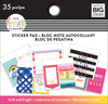 Bold And Bright, 35/Pkg - Happy Planner Tiny Sticker Pad