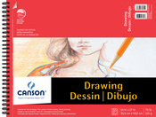 "30 Sheets - Canson Foundation Series Spiral Drawing Pad 14""X17"""