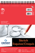 "50 Sheets - Canson Foundation Series Spiral Sketch Pad 9""X12"""