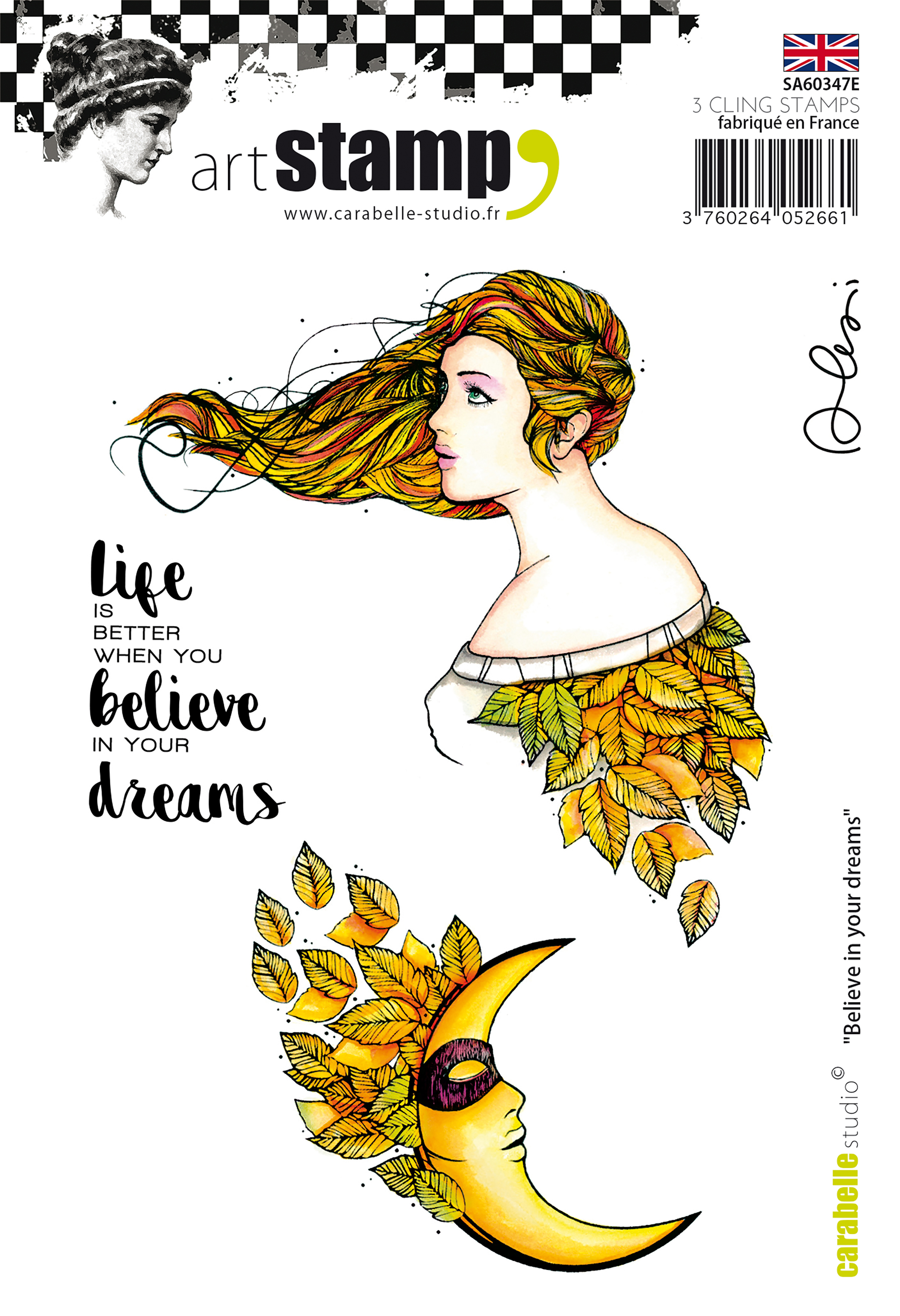 Believe In Your Dreams - Carabelle Studio Cling Stamp A6 By Alexis Toupet
