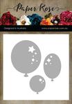 Balloon Trio Decorative - Paper Rose Dies