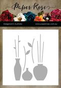 Vases & Stems - Paper Rose Dies